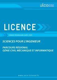 Génie Civil Mécanique et Informatique - Université du Littoral Côte d ...