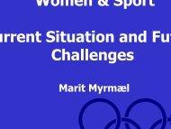 Marit MYRMAEL - EWS European Women and Sport
