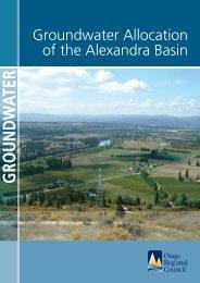 Alexandra Basin report - Otago Regional Council