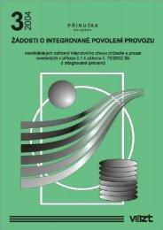 Příručka 2004/3 - Žádosti o integrované povolení provozu ... - SVT