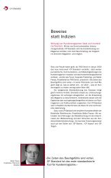 Beweise statt Indizien – Wirkung von Kundenmagazinen - TNS Emnid