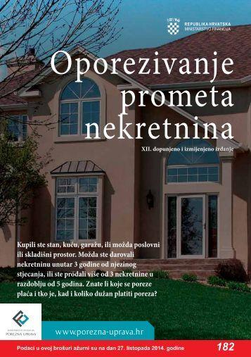 Brošura: Oporezivanje prometa nekretnina - Porezna uprava