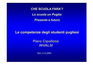Piero Cipollone - Regione Puglia