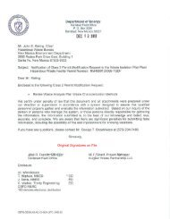 Class 2 Permit Modification Request, Revise Waste Analysis Plan ...