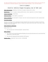 Electric Vehicle Single Occupancy Use of HOV Lane