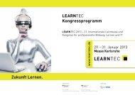 Kongressprogramm 2013 - Learntec