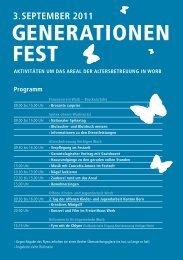 GENERATIONEN FEST - Jugendarbeit Worb