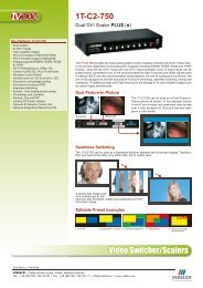 Video Switcher/Scalers 1T-C2-750 - VIDELCO