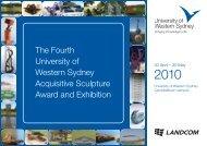 UWS Sculpture Award 2010 Invitation (PDF, 934.73 KB)