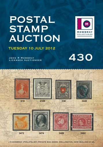 POSTAL STAMP AUCTION - Mowbray Collectables Ltd