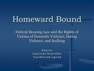 Homeward Bound - Texas Council on Family Violence