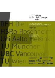 4. Europäischer Kongress für energieeffizientes Bauen mit Holz ...