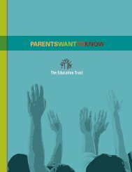 Parents want to know