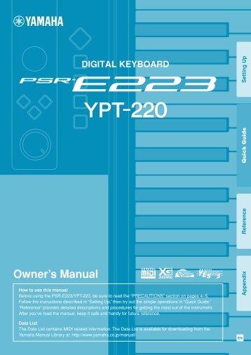 psr e233 ypt 230 owner s manual yamaha downloads rh yumpu com
