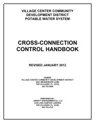 cross-connection control handbook - Village Community ...