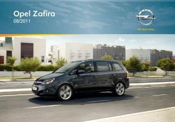 Opel Zafira 2012 – Instrukcja obsługi – Opel Polska