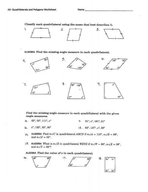quadrilateral and polygon worksheet. Black Bedroom Furniture Sets. Home Design Ideas