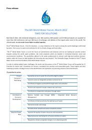 Press release - 6th World Water Forum