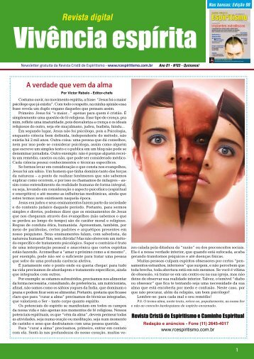 Vivência espírita - Revista Cristã de Espiritismo