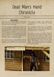 Dead Man's Hand Chronicle - Great Escape Games