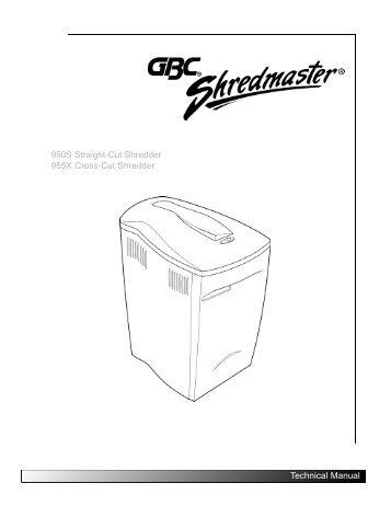 950S Straight-Cut Shredder 955X Cross-Cut ... - MyBinding.com