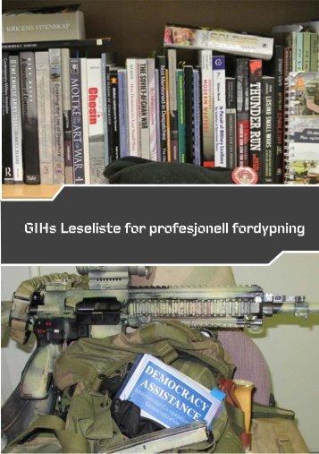 Hærens leseliste for profesjonell fordypning.pdf - Forsvaret.no
