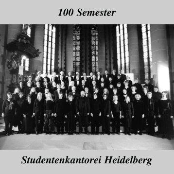 100 Semester Studentenkantorei Heidelberg