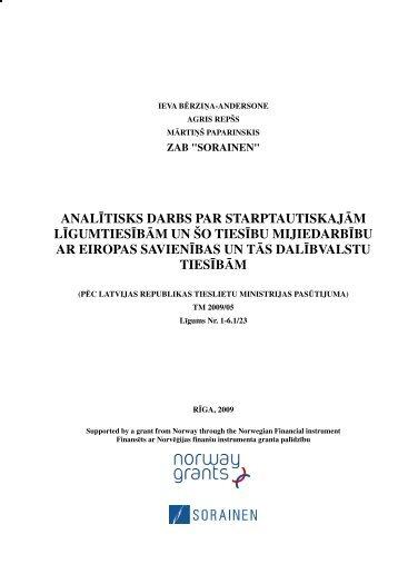 Analītisks darbs par starptautiskajām ... - Tieslietu ministrija