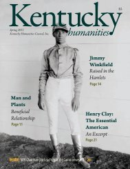 Spring 2011 - Kentucky Humanities Council