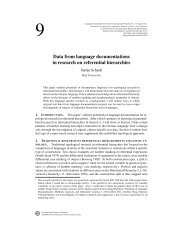 Data from language documentations in research on ... - ScholarSpace