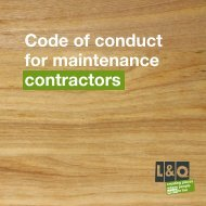 Maintenance contractor's code of conduct - London & Quadrant Group