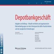 Börsen-Zeitung - WM Seminare