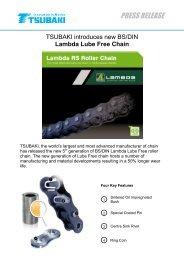 Tsubaki introduces new BS/DIN Lambda Lube ... - Tsubaki Europe