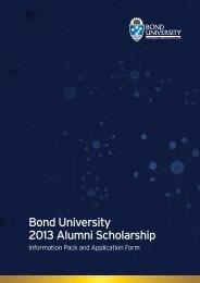 Bond University 2013 Alumni Scholarship - Bond Alumni