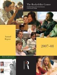 2007-2008 Annual Report - Rockefeller Center - Dartmouth College