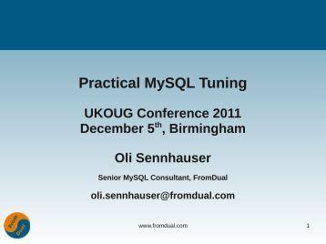 Practical MySQL Tuning - FromDual