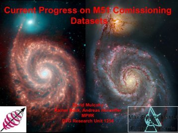 Current Progress on M51 Comissioning Datasets