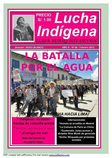 Lucha Indigena No. 66 PDF - Lucha Indígena