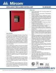 intelligent fire alarm control panels fx-350-60-dr mea - Mircom
