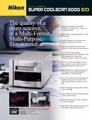 The quality of a drum scanner, in a Multi-Format, Multi-Purpose film ...