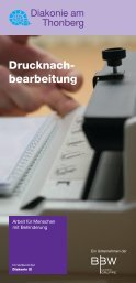 Drucknachbearbeitung - Diakonie am Thonberg