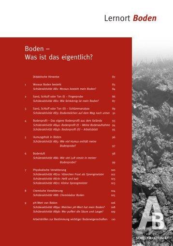 Lernort Boden - Bayerisches Staatsministerium für Umwelt und ...