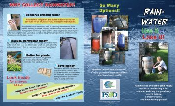 Rain Water Collection brochure - Snohomish Conservation District