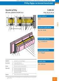 Příčka na CW 150, 3x RF (DF) - Rigips