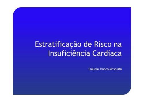 Estratificação de risco na insuficiência cardíaca - Prof. Cláudio Tinoco