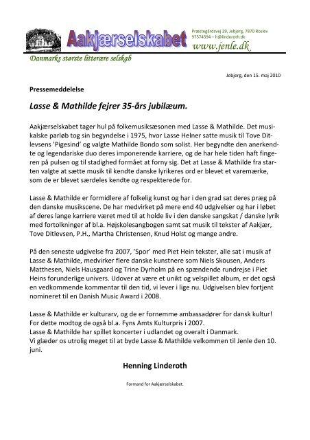 Lasse & Mathilde fejrer 35-års jubilæum. - Jenle