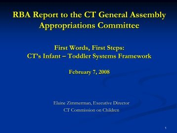 First Words, First Steps: CT's Infant-Toddler Systems Framework