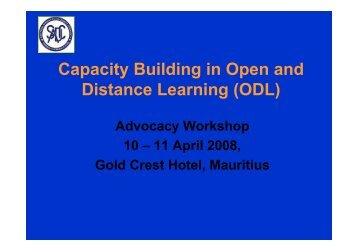 SADC Capacity Building In ODL - ADEA