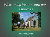 Welcoming Visitors into our Churches - Festival of Churches
