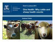 One Health - Faculty of Veterinary Science - University of Melbourne